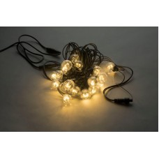 Белт-лайт LED-2BLR-2835-50CM-10M-240V-WW/BL (белые теплые светодиоды/черный провод), 10м