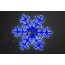 Снежинка бело-синяя, с контроллером, 8 режимов, 79*69 см