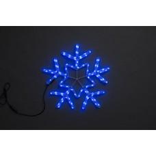 Снежинка светодиодная синяя с мерцанием 56*57 см