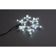 Снежинка светодиодная белая с мерцанием, 30*25,5 см