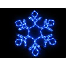 Снежинка светодиодная синяя 60*52 см