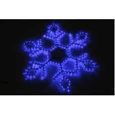 Снежинка светодиодная синяя 73*73 см