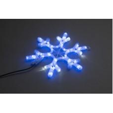 Снежинка светодиодная синяя с мерцанием 40*40 см