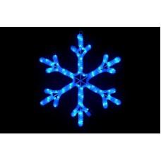 Снежинка светодиодная синяя, 40*40 см