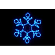 Снежинка светодиодная синяя 79*69 см