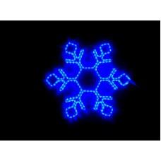 Снежинка светодиодная синяя 60*58 см