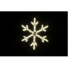 Снежинка светодиодная тёплая белая 52*52 см