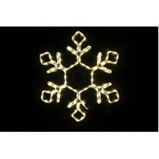 Снежинка светодиодная тёплая белая 79*69 см