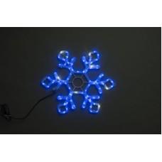 Снежинка светодиодная синяя с мерцанием 79*69 см