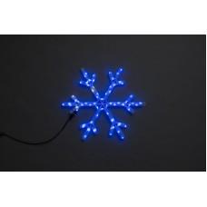 Снежинка светодиодная синяя с мерцанием 52*52 см