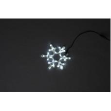 Снежинка светодиодная белая, 30*25,5 см