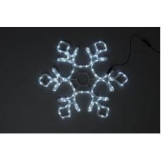 Снежинка светодиодная белая с мерцанием 60,5*52 см