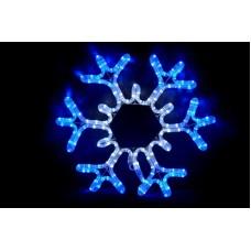 Снежинка бело-синяя, 43*43 см