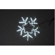Снежинка светодиодная белая с мерцанием 56*57 см
