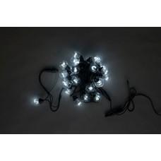 Белт-лайт LED-2BLR-40CM-10M-240V-W (белые светодиоды/черные провод), 10м