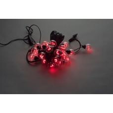 Белт-лайт LED-2BLR-50CM-10M-240V-R (красные светодиоды/черный провод), 10м