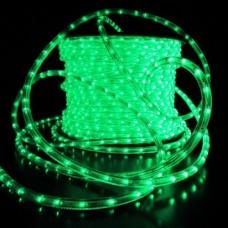 Дюралайт светодиодный двухжильный LED-DL-2W-100M-1M-12V зеленый, 13мм, кратность резки 1м