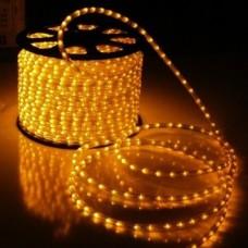 Дюралайт светодиодный двухжильный LED-DL-2W-100M-1M-12V желтый, 13мм, кратность резки 1м