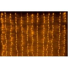 LED-XP-1344-230V Yellow Световой дождь, желтый, прозрачный провод, 2,4х3,6м