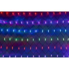 Светодиодная сетка LED-SNLR-D-288-1,5*2M-S-240V-M/BL (мульти светодиоды/черный каучуковый провод) 2*1,5 м