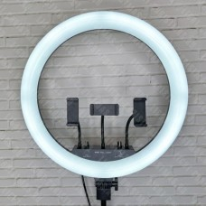 Кольцевая лампа LED MJ18 RGB 45 с пультом д/у, сумкой и штативом (цветная)