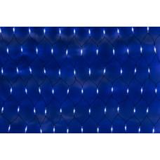 Светодиодная сетка LED-SNLR-D-288-1,5*2M-S-240V-W/B-BL (бело-синие светодиоды/черный каучуковый провод) 2*1,5 м