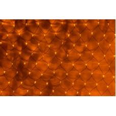 Светодиодная сетка LED-SNL-288-2*2M-240V-Y/BL (желтые светодиоды/черный провод) 2*2 м