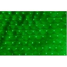 Светодиодная сетка LED-SNL-432-2*3M-240V-G/BL (зеленые светодиоды/черный провод) 2*3 м