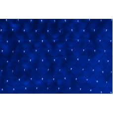 Светодиодная сетка LED-SNL-C-432-2*3M-240V-B/BL (синие светодиоды/черный провод) с контроллером, 2*3 м
