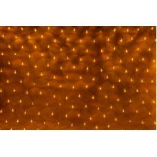 Светодиодная сетка LED-XG-288-2*1.5M-230V (желтые светодиоды/черный провод) с контроллером, 2*1,5 м