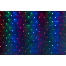 Светодиодная сетка LED-XG-288-2*1.5M-230V-S (мульти светодиоды/черный провод) 2*1,5 м