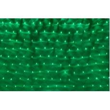 Светодиодная сетка LED-XG-288-2*1.5M-230V-S (зеленые светодиоды/черный провод) 2*1,5 м