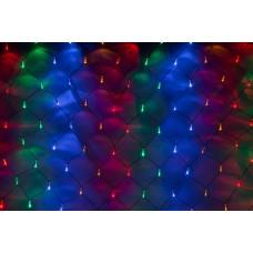 Светодиодная сетка LED-SNL-C-100L-1*1.5M-240V-M/BL (мульти светодиоды/черный провод) с контроллером, 1*1,5 м