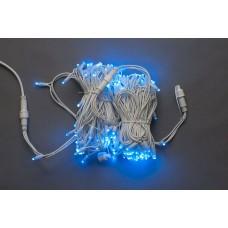 Светодиодная гирлянда LED-PLR-160-24M-240V-B/WH синий, белый провод, 24м
