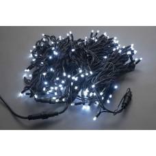 Светодиодная гирлянда LED-PLR-200-20M-240V-W/BL-W/O, белая, черный провод, соединяемая (без силового шнура) 20м