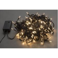 Светодиодная гирлянда LED-TW-180-13,5M-24V-WW/BL белая теплая, черный провод, с контроллером и трансформатором, 13,5 м