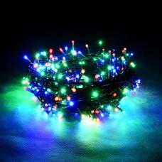 Светодиодная гирлянда Нить, 100 разноцветных LED ламп, 220М мульти, 10м