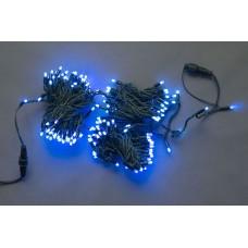 Светодиодная гирлянда LED-PL-210-21M-240V-B/BG-S синяя, темно-зеленый провод, 21м