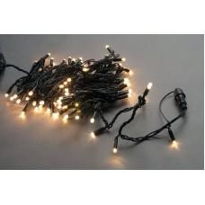 Светодиодная гирлянда LED-PLS-100-10M-24V-WW/BL-W белая теплая, черный провод, соединяемая (без силового шнура) 24V, 10 м