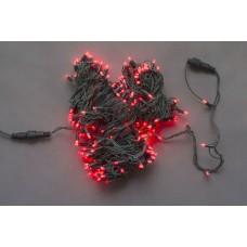 Светодиодная гирлянда LED-PL-210-21M-240V-R/BG-S красная, темно-зеленый провод, 21м