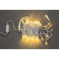 Светодиодная гирлянда LED-PL-100-10M-240V-WW/WH белая теплая, белый провод, 10м