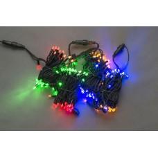 Светодиодная гирлянда LED-PLR-200-20M-240V-M/BL мульти, черный провод, 20м