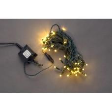 Светодиодная гирлянда LED-PL-56-24V-WW/DG белая теплая, темно-зеленый провод, 24V, 14 м