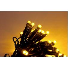 Светодиодная гирлянда LED-PL-100-10M-240V-Y/BG желтая, темно зеленый провод, 10м