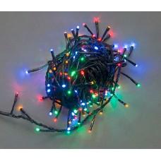 Светодиодная гирлянда LED-BW-200-10M-240V-M мульти, черный провод, 10м