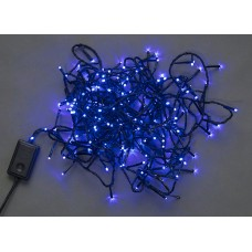 Светодиодная гирлянда LED-BW-200-20M-240V-B синяя, черный провод, 20м