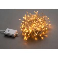 Светодиодная гирлянда LED-BW-200-20M-240V-Y желтая, прозрачный провод, 20м