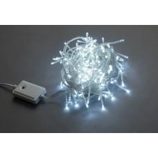 Светодиодная гирлянда LED-BW-200-10M-240V-W белая, прозрачный провод, 10м
