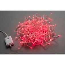 Светодиодная гирлянда LED-BW-200-20M-240V-R красная, прозрачный провод, 20м