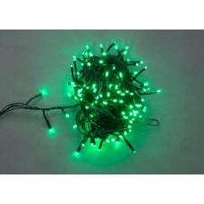 Светодиодная гирлянда LED-BW-200-10M-240V-G зеленая, черный провод, 10м